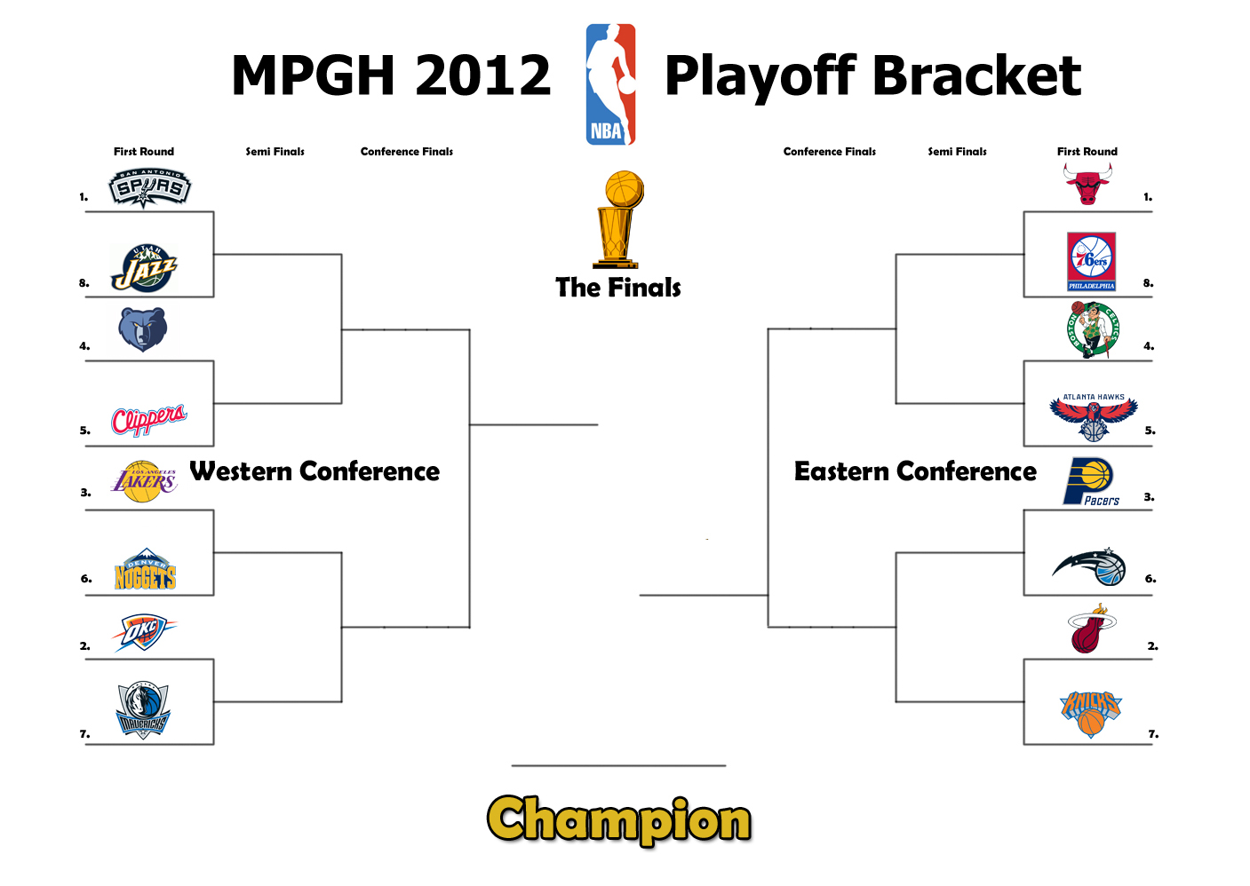 This is an image of Breathtaking Nba Playoffs Printable Brackets